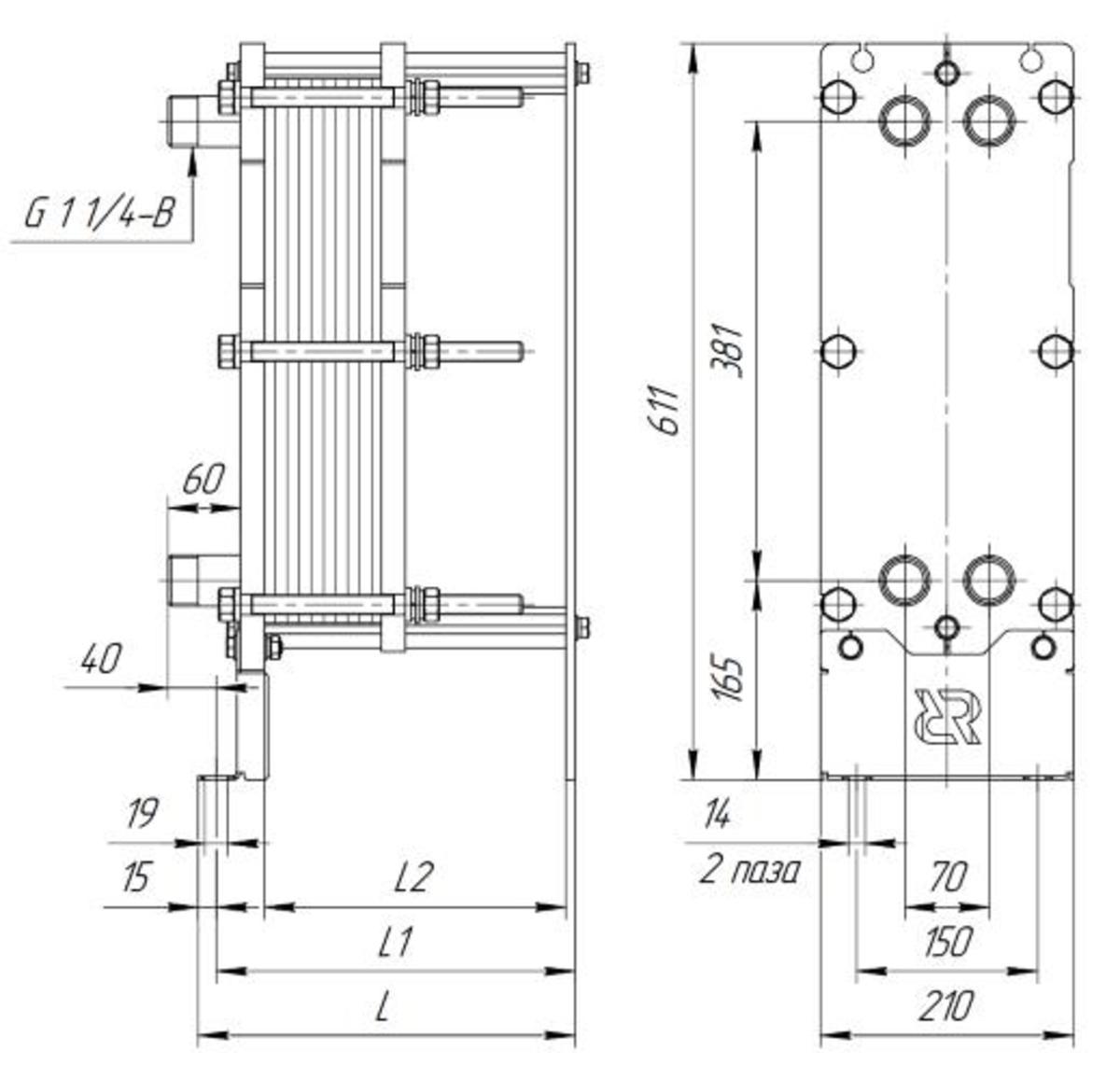 Ридан нн 22 0 16 кг Пластинчатый теплообменник КС 19 Северск